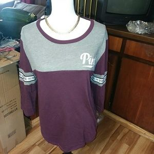 Vs pink 3/4 sleeve tee #2